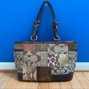 Coach Signature Patchwork Large Gallery Tote Bag